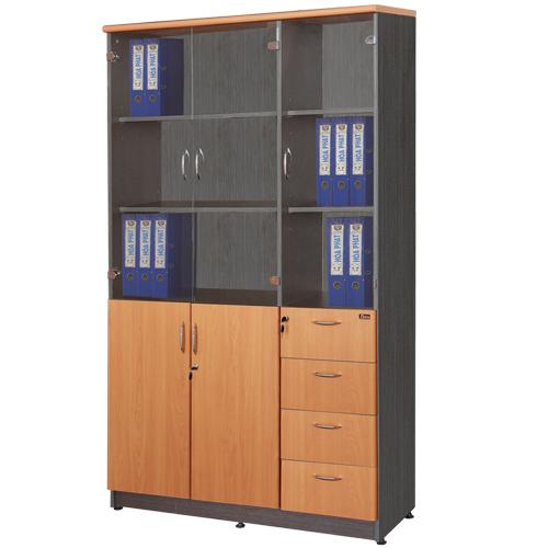 Tủ gỗ cao cấp Hòa Phát mã NT1960-3G/4D