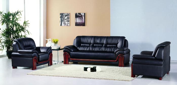 Bộ sofa bọc da cao cấp Hòa Phát mã SF03