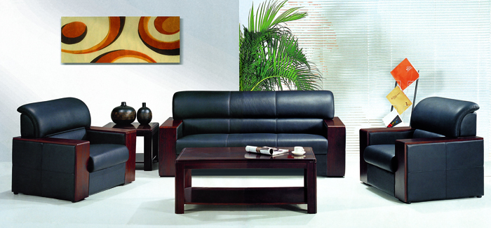 Bộ sofa bọc da cao cấp Hòa Phát mã SF11