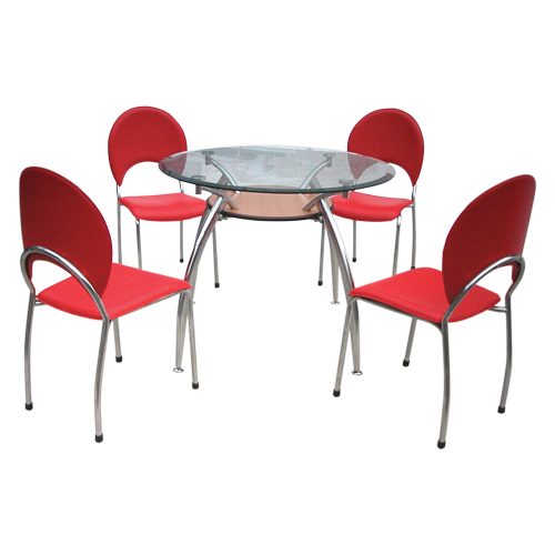 Bộ bàn ghế ăn tròn Hòa Phát đẹp B53, G53
