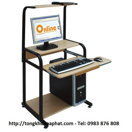 Bàn máy tính khung thép Hòa Phát BMT05