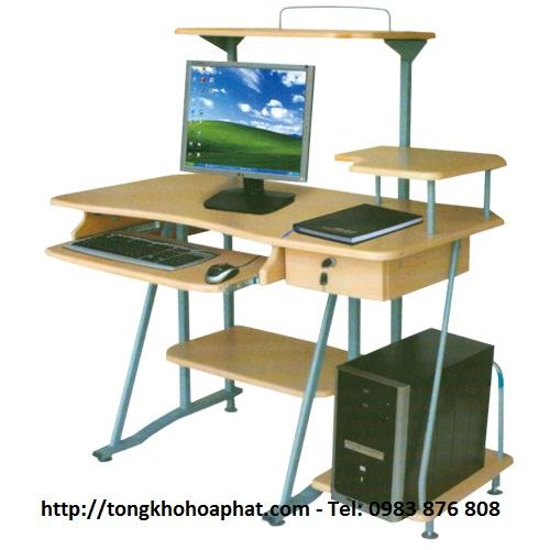 Bàn máy tính khung thép Hòa Phát BMT136
