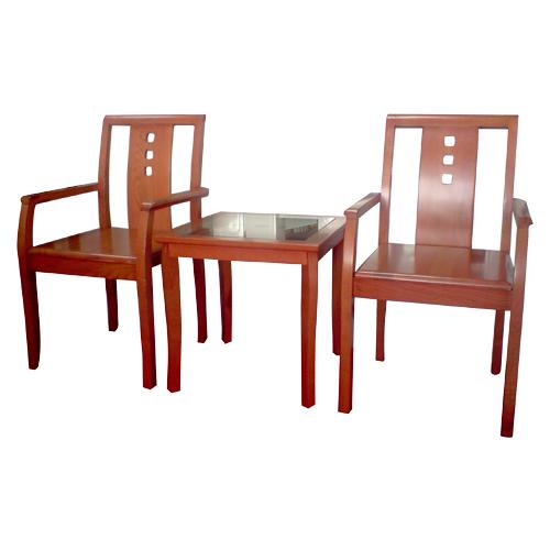 Bộ bàn ghế gỗ khách sạn BKS02, GKS02