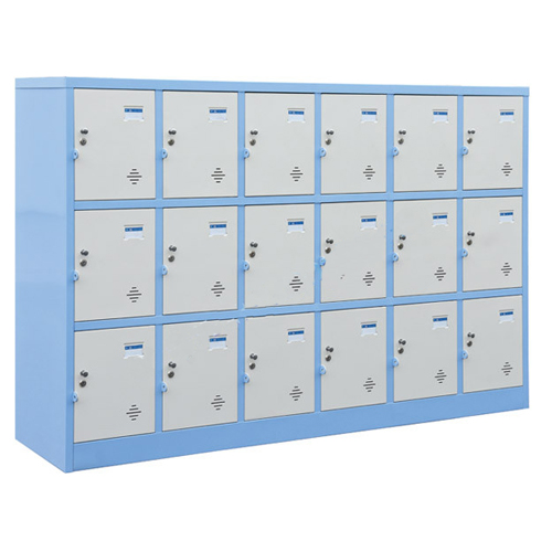 Tủ sắt locker Hòa Phát 18 ngăn TMG983-6K dùng cho trường học