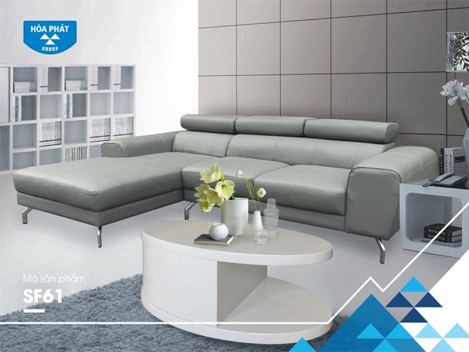 Sofa da Hòa Phát cao cấp SF61