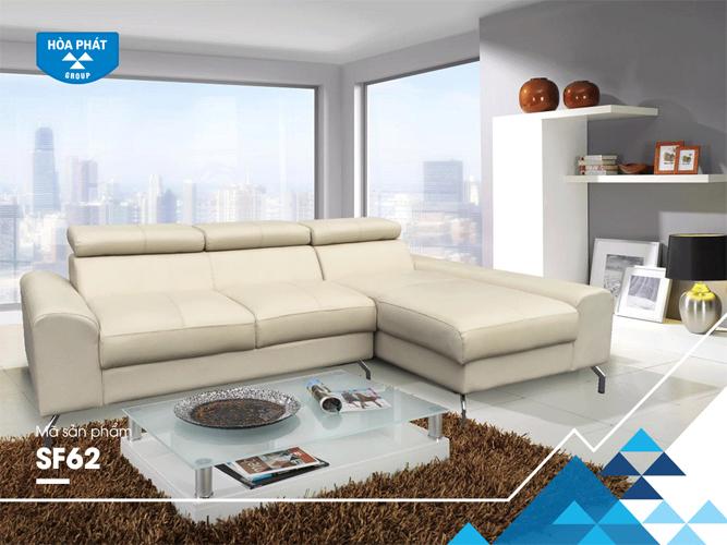 Sofa da Hòa Phát cao cấp SF62