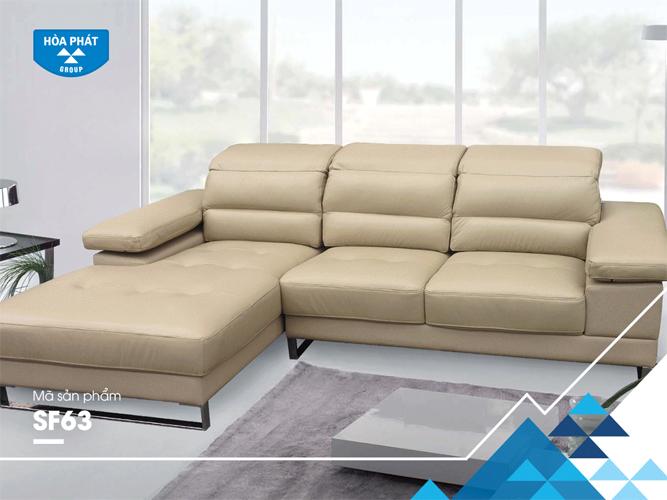 Sofa da Hòa Phát cao cấp SF63