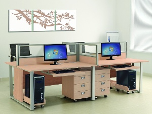 Module bàn làm việc cao cấp Hòa Phát HRMD05