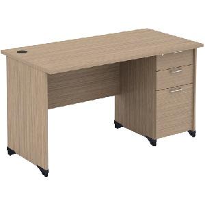 Bàn nhân viên bằng gỗ công nghiệp Athena mã AT140HL3D