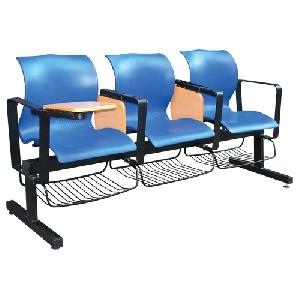 Ghế phòng chờ nhựa có bàn viết gỗ Hòa Phát PC01