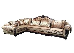 Bộ ghế sofa nỉ gỗ cao cấp SF52