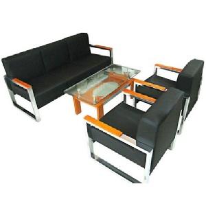 Bộ ghế sofa đệm da khung thép Hòa Phát SF80