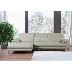 Bộ ghế sofa góc phòng khách đệm da SF60 cao cấp