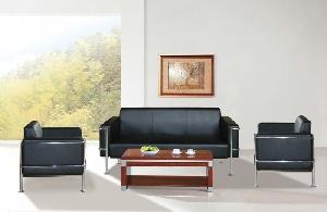 Bộ ghế Sofa da Hòa Phát SF32 màu đen sang trọng