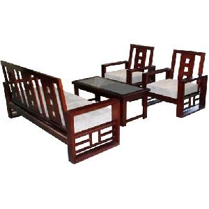 Bộ Sofa gỗ tự nhiên Hòa Phát SF72 tinh tế sang trọng