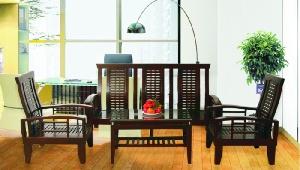 Bộ Sofa gỗ tự nhiên Hòa Phát SF70 bền đẹp sang trọng
