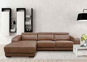 Bộ Sofa góc nệm da thật cao cấp Hòa Phát SF107A