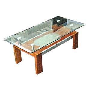 Bàn trà sofa gỗ mặt kính Hòa Phát BSF80