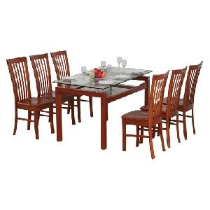 Bộ bàn ghế ăn gỗ tự nhiên Hòa Phát TB09, TGA02