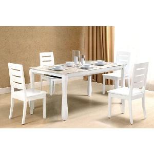 Bộ bàn ghế ăn gỗ tự nhiên sang trọng lịch lãm HGB60, HGG60