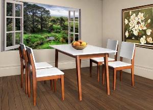 Bộ bàn ghế ăn nhỏ gọn hiện đại mã HGB63B, HGG63