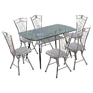 Bộ bàn ghế ăn khung thép Hòa Phát giá rẻ B48, G27