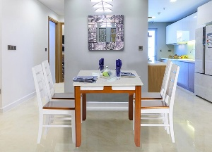 Bộ bàn ghế ăn gỗ tự nhiên Hòa Phát HGB64B, HGG64