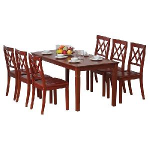 Bộ bàn ghế phòng ăn gia đình gỗ tự nhiên TB03, TGA03