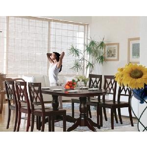 Bộ bàn ghế phòng ăn gia đình lịch lãm sang trọng TB06, TGA03