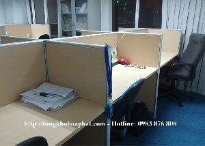 Thi công vách ngăn gỗ phẳng không hộp kỹ thuật VNG08