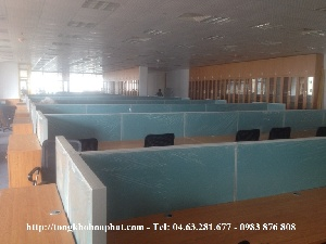 Thi công vách ngăn nỉ phẳng cho văn phòng làm việc VNN15