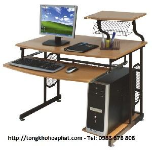 Bàn máy tính khung thép Hòa Phát BMT46