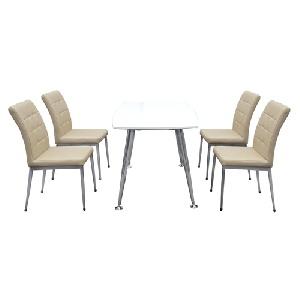 Bộ bàn ghế ăn Hòa Phát B68, G68 trắng