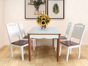 Bộ bàn ăn gia đình cao cấp Hòa Phát HGB70A, HGG70