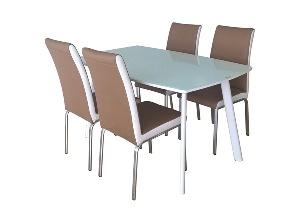 Bộ bàn ăn khung thép Hòa Phát B60, G60