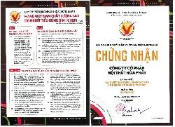 Nội thất Hòa Phát đạt chứng nhận sản phẩm Việt Nam chất lượng cao năm 2019