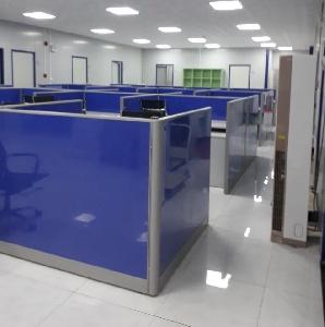 Thi công vách ngăn văn phòng nỉ khung nhôm hệ 60